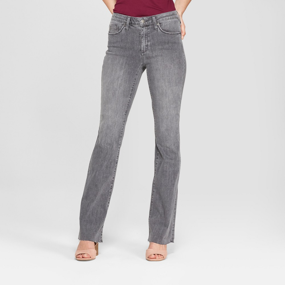 Women's High-Rise Flare Jeans - Universal Thread Gray Wash 4 Long