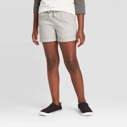 Girls' Rolled-Hem Woven Shorts - Cat & Jack™
