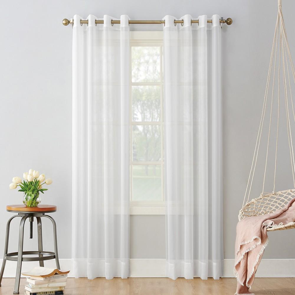Emily Sheer Voile Grommet Curtain Panel White 59