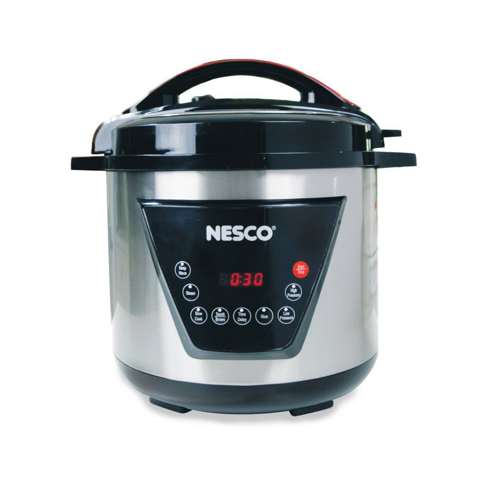 NESCO PC8-25, Pressure Cooker, Silver/Black, 8 quart, 1300 watts