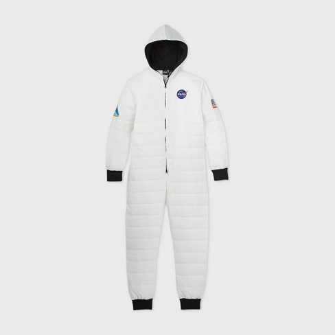 Men's NASA Puffer Union Suit - White - image 1 of 2