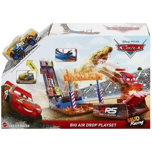 Disney Pixar Cars XRS Mud Racing Crash Challenge Playset Kid Toy Gift