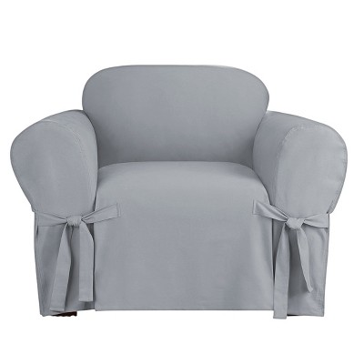 Heavyweight Cotton Duck Chair Slipcover - Sure Fit