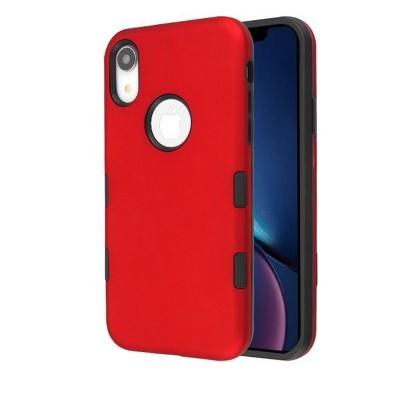 MYBAT Tuff Hard Hybrid Titanium TPU Case For Apple iPhone XR, Red