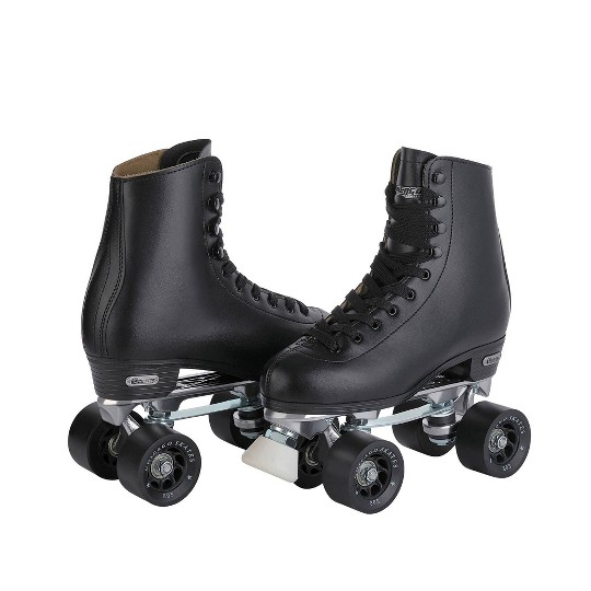 Men's Chicago Deluxe Leather Rink Skates - 8, Black image number null