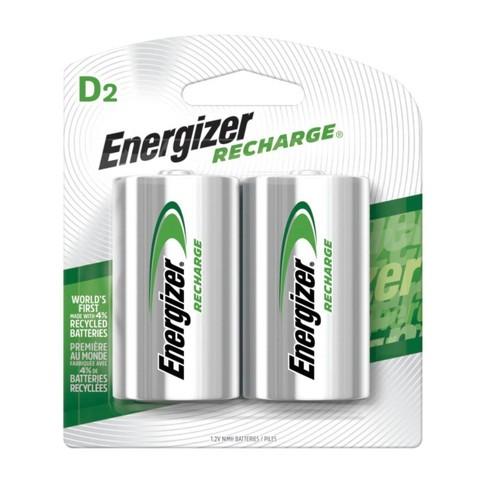 Energizer Recharge D Nickel Metal Hydride Batteries 2 ct - (NH50BP-2) - image 1 of 2