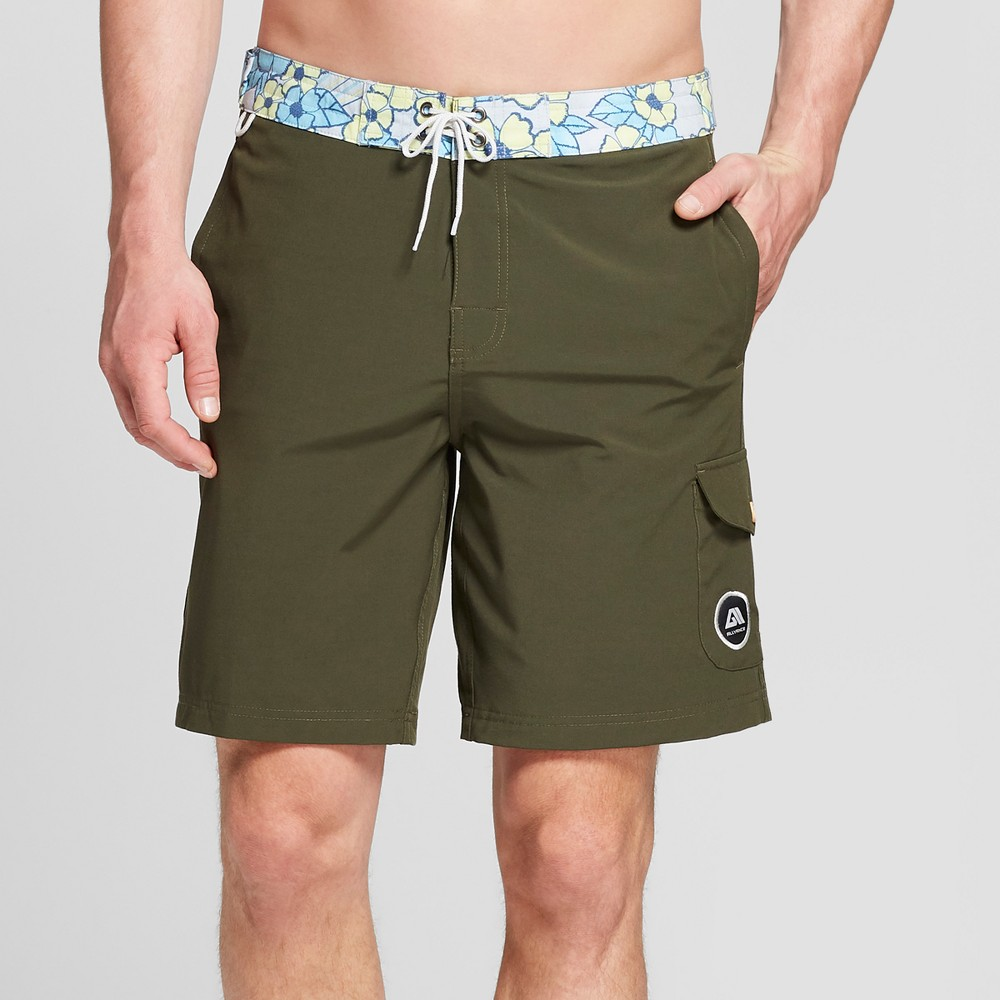 Men's 9 Caravan Board Shorts - Allyance Military 38