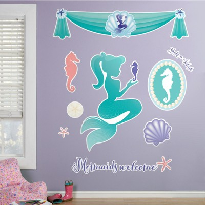 Birthday Express Mermaids Under the Sea Giant Wall Decals
