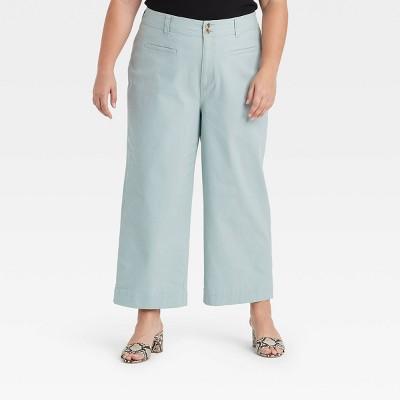 Women's Cropped Wide Leg Fashion Pants - A New Day™