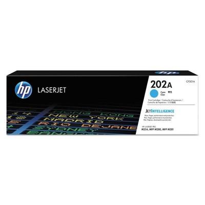 HP 202A LaserJet Toner Cartridge - Cyan (CF501A)