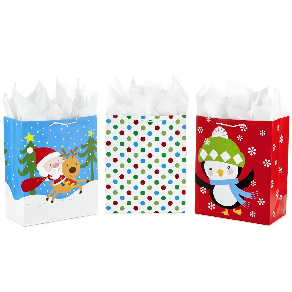 Image of 3ct Large Gift Bag and Tissue Paper Bundle - Hallmark