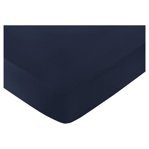 Sweet Jojo Designs Space Galaxy Fitted Crib Sheet - Navy - image 1 of 1