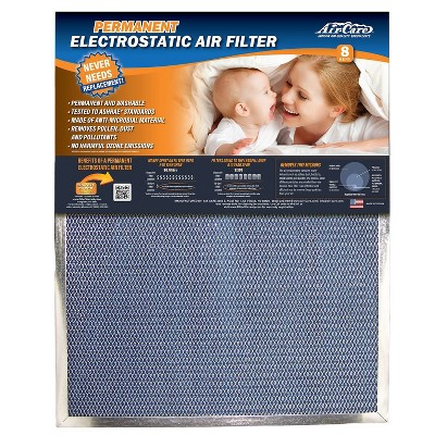"""Air-Care 12"""" x 12"""" x 1"""" Permanent Washable Electrostatic Air Filter"""