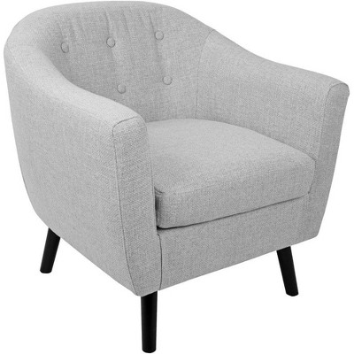 Rockwell Chair - Gray - Dark Legs - LumiSource