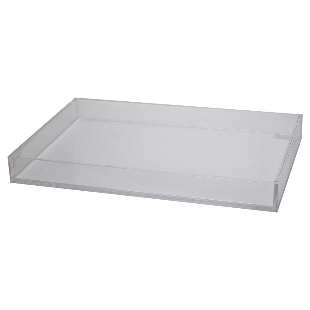 Image of Acrylic Westby Rectangular Tray - Large - A&b Home, Clear