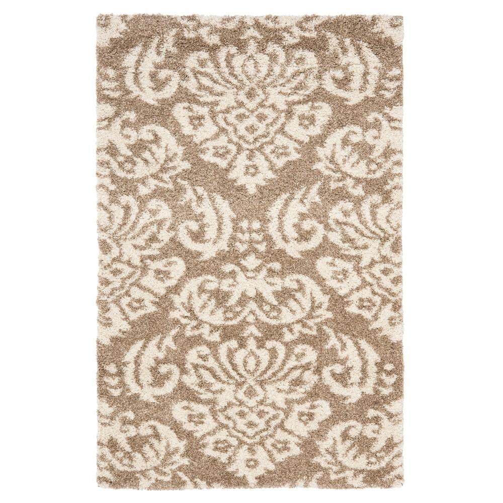 Beige/Cream Abstract Loomed Area Rug - (8'x10') - Safavieh, Beige/Ivory