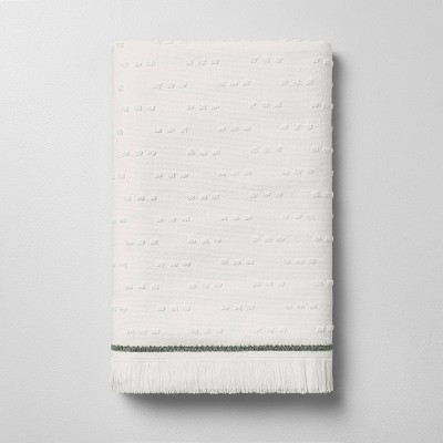 Fouta Texture Dots Bath Sheet Sour Cream/Railroad Gray - Hearth & Hand™ with Magnolia
