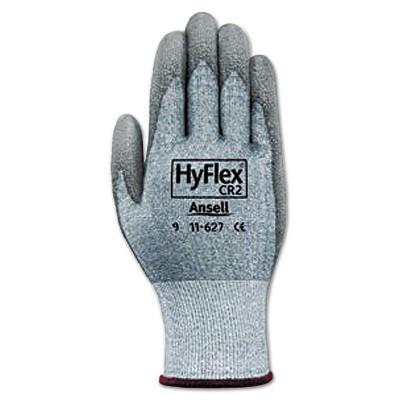 Ansell HyFlex 627 Light-Duty Gloves Size 10 Dyneema/Lycra/Polyurethane GY 12 Pairs 1162710
