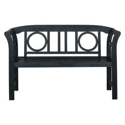 Moorpark 2-Seat Bench Dark Gray - Safavieh