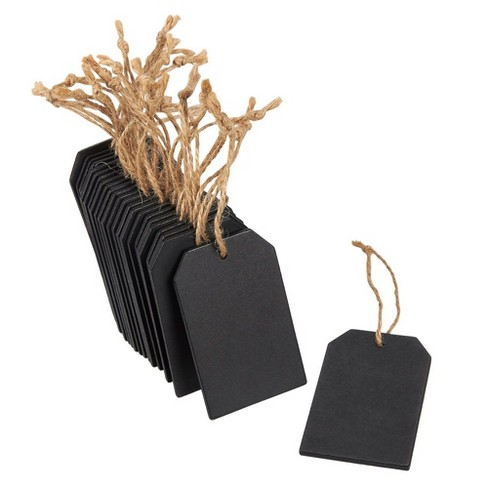 """24 Piece Chalkboard Tags - Hanging Mini Wooden Chalkboard Signs Chalkboard Labels, Ideal for Price Tags, Message Tags, Decorative Labels, 2x3.1"""" Black - image 1 of 3"""