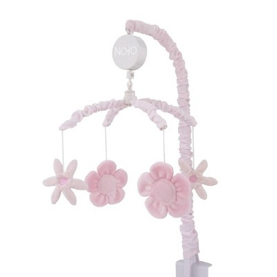 NoJo Countryside Floral - Pink Plush Flowers Musical Mobile