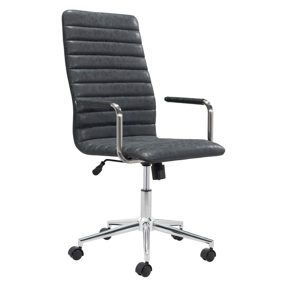 Modern Adjustable Office Chair Vintage Black - ZM Home