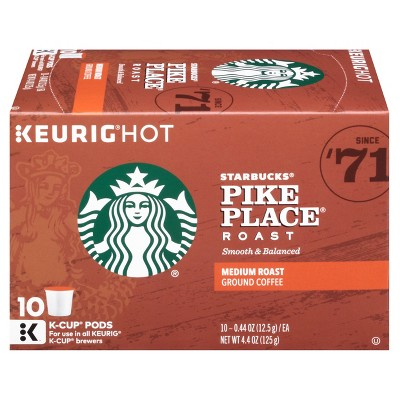 Starbucks Pike Place Medium Roast Coffee - Keurig K-Cup Pods - 10ct