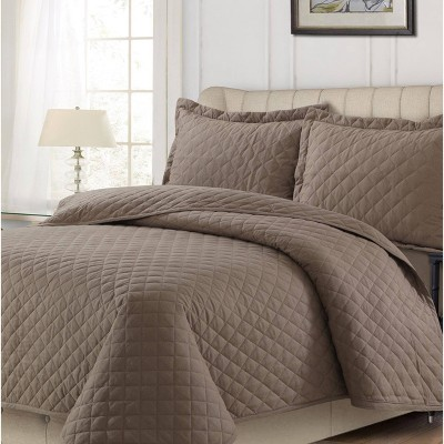 Flannel Solid Oversized Quilt Set - Tribeca Living