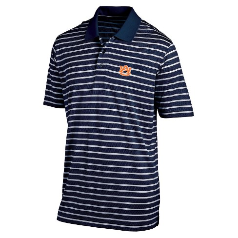 NCAA Men's Striped Poly Mesh Polo Shirt Auburn Tigers - image 1 of 1
