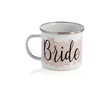 """Shiraleah """"BRIDE"""" ENAMEL MUG, WHITE - White - Shiraleah"""