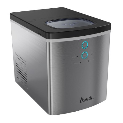 Avanti IM1211B-IS Portable Countertop Design Stainless Steel Housing Automatic Ice Maker, Silver