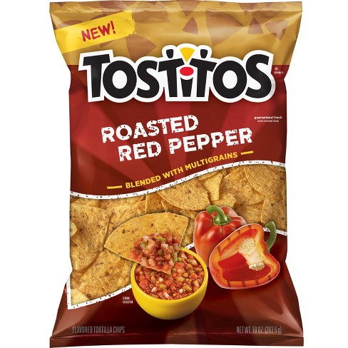 Tostitos Roasted Red Pepper Flavored Tortilla Chips - 10oz - image 1 of 2