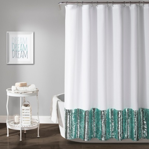Mermaid Sequins Spa Shower Curtain - Lush Dcor - image 1 of 2