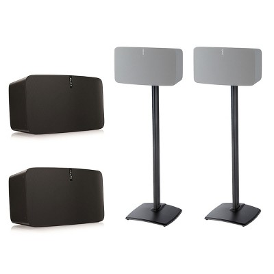 Pair of Sanus WSS51 Wireless Speaker Stand for SONOS PLAY:5 in Black FAST P+P