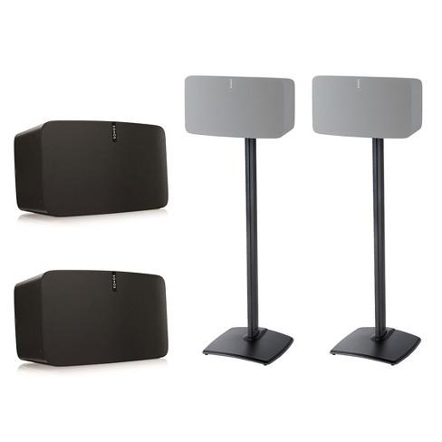 Sonos Play 5 Wireless Smart Speakers With Sanus Wss5 1 Speaker Stands Pair