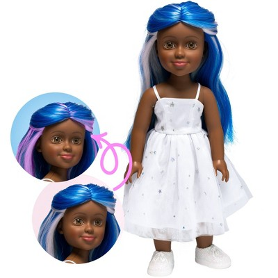 "I'M A WOW Olivia The Stargirl 14"" Fashion Doll with Color-Changing Hair"