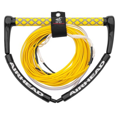 Airhead Dyneema Flat Line Tangle Free 4 Section Wakeboard Boat Tow Rope, Yellow