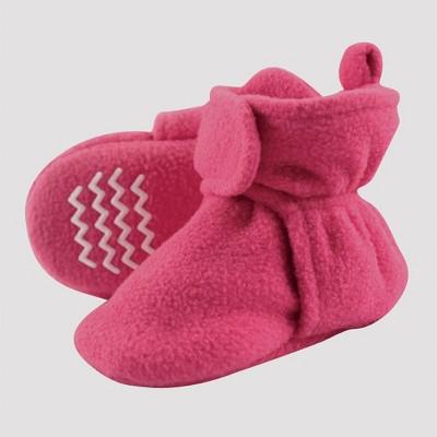 Hudson Baby Fleece Lined Scooties - Dark Pink 6-12M