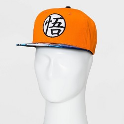 Men's Dragon Ball Super Flat Brim Baseball Hat - Orange One Size