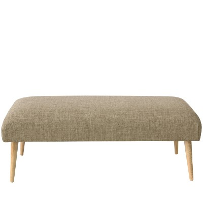 Bench with Cone Legs Zuma Linen with Natural Legs - Threshold™