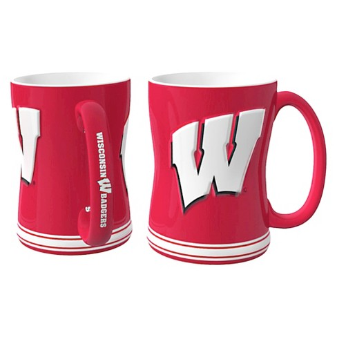 Wisconsin Badgers Boelter Brands 2 Pack Sculpted Relief Style Coffee Mug - Red/ White (15 oz) - image 1 of 1