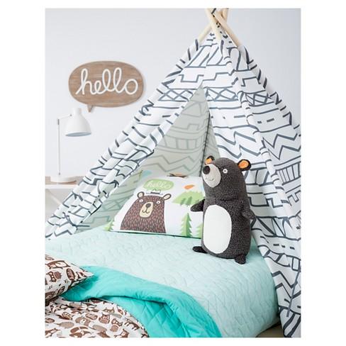 Stuffed Bear Character Throw Pillow Pillowfort Target