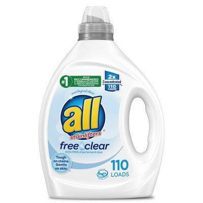 All Free Clear Liquid Concentrated Laundry Concentrated Detergent - 82.5 fl oz