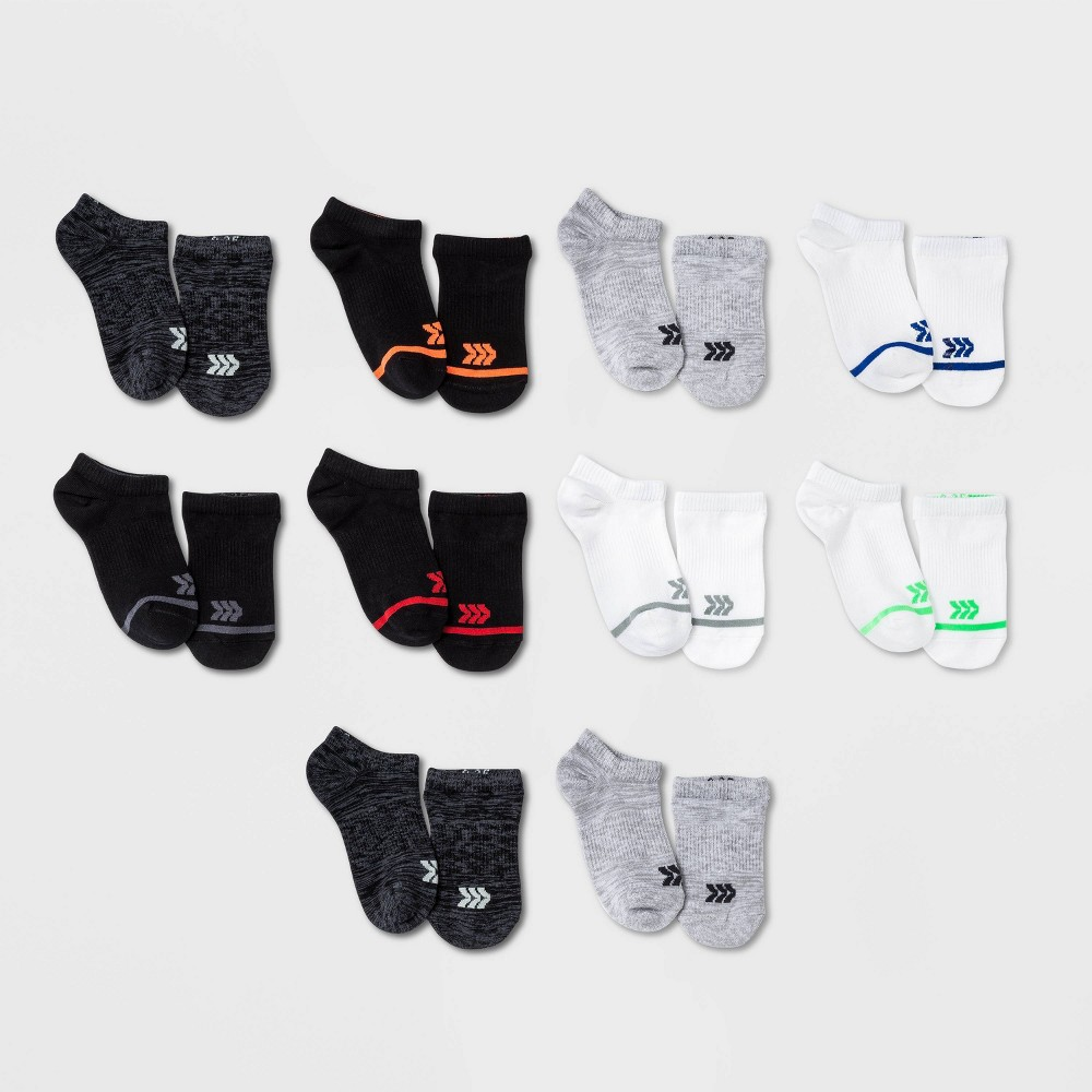 Kids 39 10pk No Show Socks All In Motion 8482 Colors May Vary L
