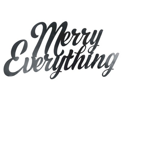 Merry Everything Metal Wall Décor - image 1 of 1