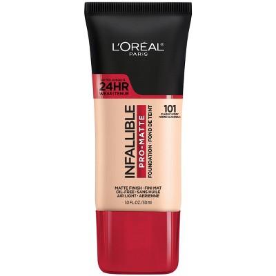 L'Oreal Paris Infallible Pro-Matte Foundation Normal/Oily Skin - 1 fl oz