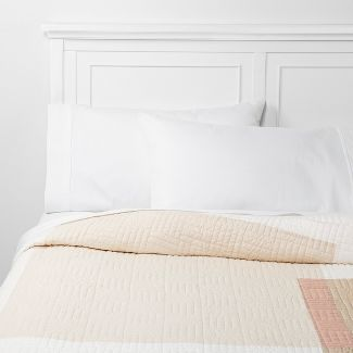 Full/Queen Colorblock Quilt Neutral - Project 62™ + Nate Berkus™