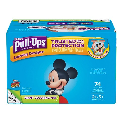 huggies pull ups boys learning designs training pants size 2t 3t 74ct
