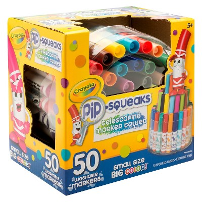 Crayola Pipsqueaks Marker Tower, Telescoping, 50ct - Multicolor