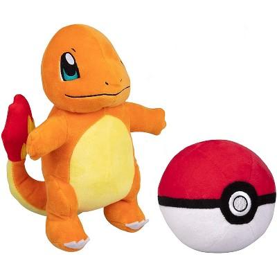 "Jazwares Pokemon Charmander 8"" Plush with Soft Pokeball, Set of 2"